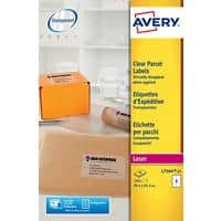 Avery L7564-25 Labels Special format Transparent 93.1 x 99.1 mm 25 Sheets of 6 Labels