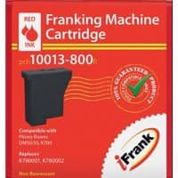 iFrank Franking Machine Ink Cartridge EU-050R-PB for Pitney Bowes DM50, DM55, DM60 Red Ink