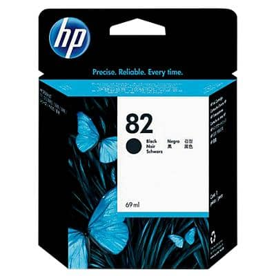 HP 82 Original Ink Cartridge CH565A Black
