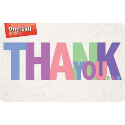One4all Gift Card Thank You £50 Assorted