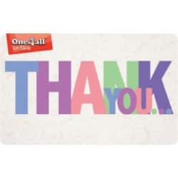 One4all Gift Card Thank You £25 Multicolour