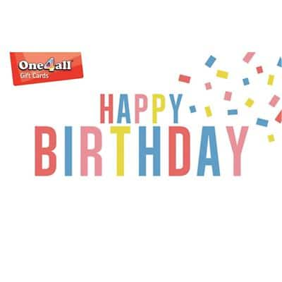 One4all Gift Card Happy Birthday £15 Assorted