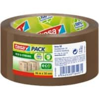 tesapack Packaging Tape Eco & Strong, PP 50 mm x 66 m Brown