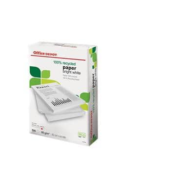 Office Depot 100% Recycled Printer Paper A3 80gsm White 150 CIE 500 Sheets