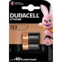 Duracell 123 Batteries CR17345 High Power Ultra 3V Lithium 2 Pieces