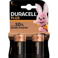 Duracell C Alkaline Batteries Plus Power MN1400 LR14 1.5V 2 Pieces