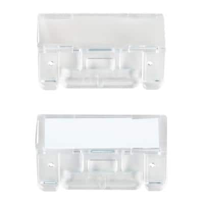 File Tabs Clear Plastic 6.1 x 2.7 cm Pack of 50