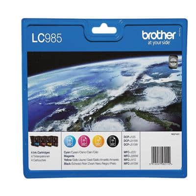 Brother LC985VALBP Original Ink Cartridge Black & 3 Colours Pack of 4