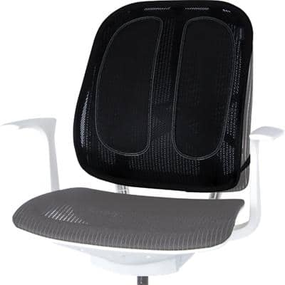 Fellowes Mesh Back Support Fabric Office Suites Black