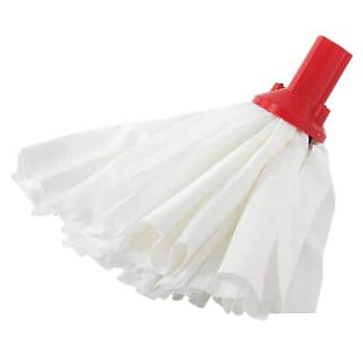 Exel Mop Head Big White & Red Pack of 10
