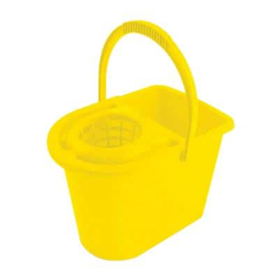 ADDIS Mop Bucket with Wringer 31 x 27 x 28cm Yellow