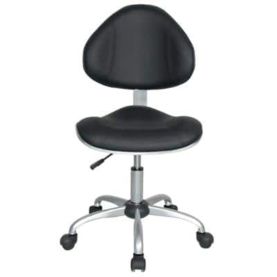Realspace Permanent Contact Ergonomic Office Chair with Adjustable Seat Ryder Black
