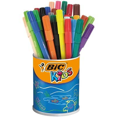 BIC Felt Tip Pens Kids Assorted 36 Pieces