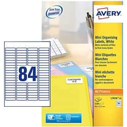Avery Address Label L7656 White 2100 labels per pack