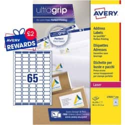 Avery Mini Address Labels L7651-250 White 16250 labels per pack