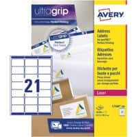 Avery L7160-500 Address Labels A4 White 63.5 x 38.1 mm 500 Sheets of 21 Labels