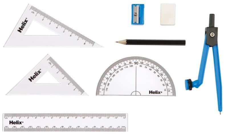 Outstanding Helix Maths Set A54000 Black Clear Beatyapartments Chair Design Images Beatyapartmentscom