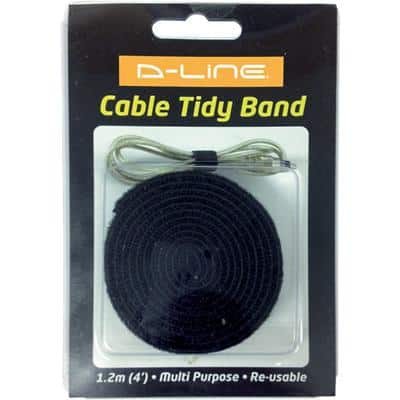 D-Line Cable Tidy Band Black 2 x 120 cm
