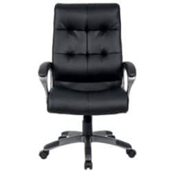 Realspace Maine leather-faced, fabric Executive Chair Black