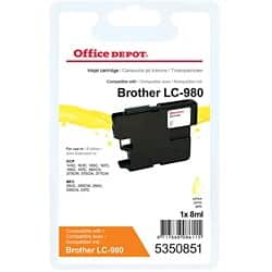 Office Depot Compatible Brother LC980Y Ink Cartridge Yellow