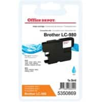 Office Depot Compatible Brother LC980C Ink Cartridge Cyan