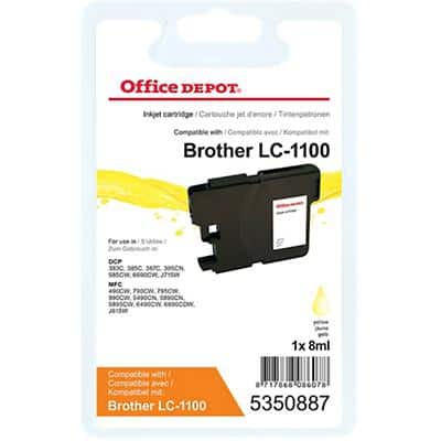 Office Depot Compatible Brother LC1100Y Ink Cartridge Yellow