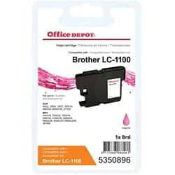 Office Depot Compatible Brother LC1100M Ink Cartridge Magenta