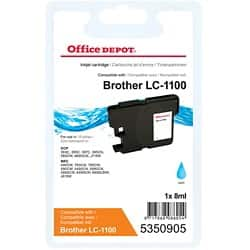 Office Depot Compatible Brother LC1100C Ink Cartridge Cyan
