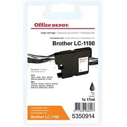 Office Depot Compatible Brother LC1100BK Ink Cartridge Black