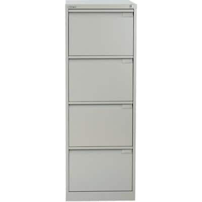Bisley Filing Cabinet BS4G 4 Drawers Goose Grey 470 x 622 x 1,321 mm