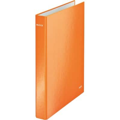 Leitz WOW Ring Binder 40 mm Paper on Board 2 ring A4 Orange