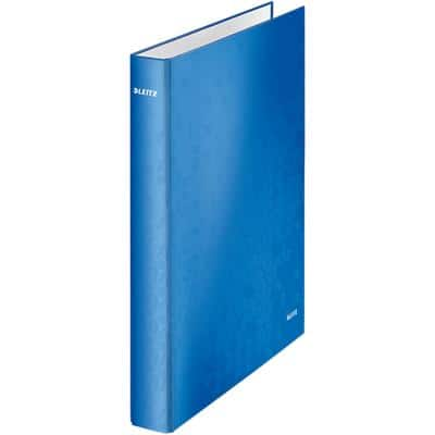 Leitz WOW Ring Binder 2 ring 25 mm Laminated Cardboard A4+ Blue