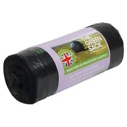 The Green Sack swing bin liners black 920 x 610 mm (h x w) 5 kg capacity roll of 20