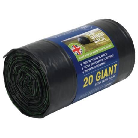 the green sack giant sacks black 1150 x 720 mm h x w 15 kg 120 l