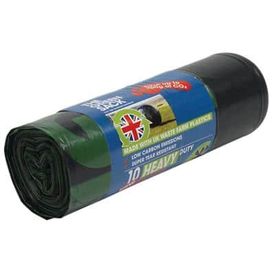The Green Sack heavy-duty sacks black 940 x 710 mm (h x w)  15 kg capacity roll of 10
