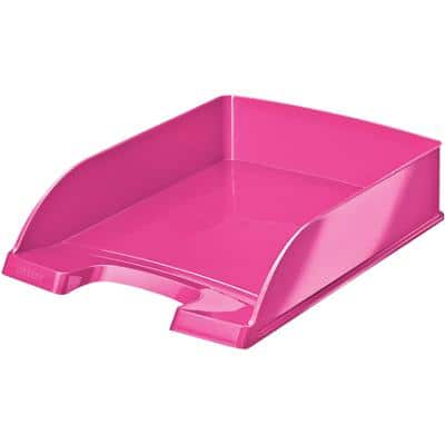 Leitz WOW Letter Tray 5226 A4 Pink 25.5 x 35.7 x 7 cm
