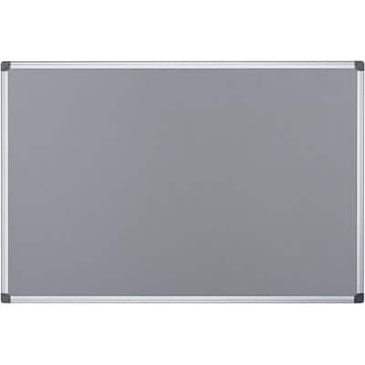 Office Depot Wall Mountable Notice Board 90 x 60 cm Grey