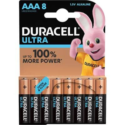 Duracell AAA Alkaline Batteries Ultra Power MX2400 LR03 1.5V 8 Pieces