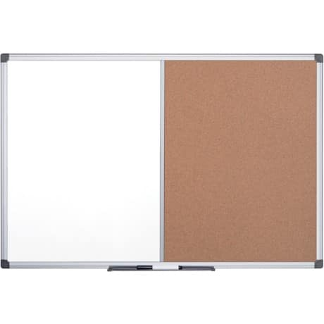 Office Depot Combination Board cork, whiteboard 90 x 120 cm Brown, White