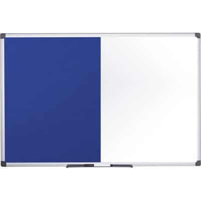 Office Depot Combination Board Felt, Whiteboard 90 x 120 cm Blue, White