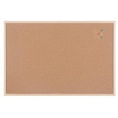 Niceday Notice Board Wood Frame Brown 600 x 900 mm