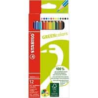 STABILO Colouring Pencils GREENcolors Assorted Pack of 12