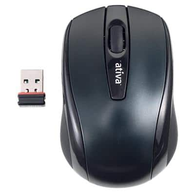 Ativa Wireless Ergonomic Mouse AT-2306 Optical USB-A Nano Receiver Black