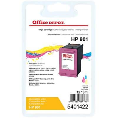 Office Depot Compatible HP 901 Ink Cartridge CC656A 3 Colours