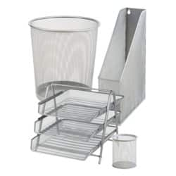 Office Depot 4-Desk Organisation Bundle - Silver