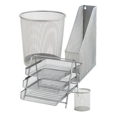 Office Depot Desk Organiser Silver Wire Mesh