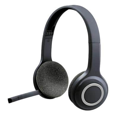 Logitech Wireless Headset H600 Over-The-Head USB Nano Receiver Connector With Noise-Cancelling Microphone Black