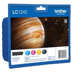 Brother LC1240 Original Ink Cartridge Black & 3 Colours 4 pieces