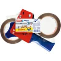 tesapack 57108 Tape Dispenser Gun 50mm x 66m Red & Blue incl. 2 Rolls of adhesive tape