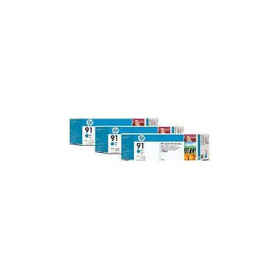 HP 91 Original Ink Cartridge C9483A Cyan 3 pieces